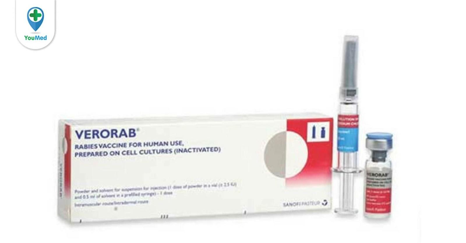 Vắc-xin ngừa dại Verorab Công dụng, giá, liều dùng, tác dụng phụ