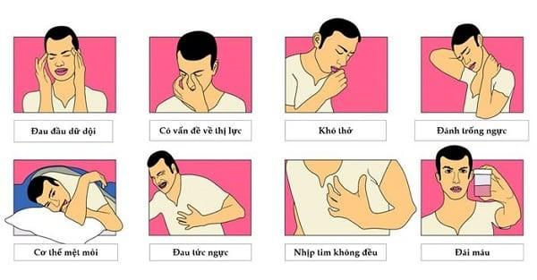 Các biểu hiện thường gặp ở tăng huyết áp người trẻ