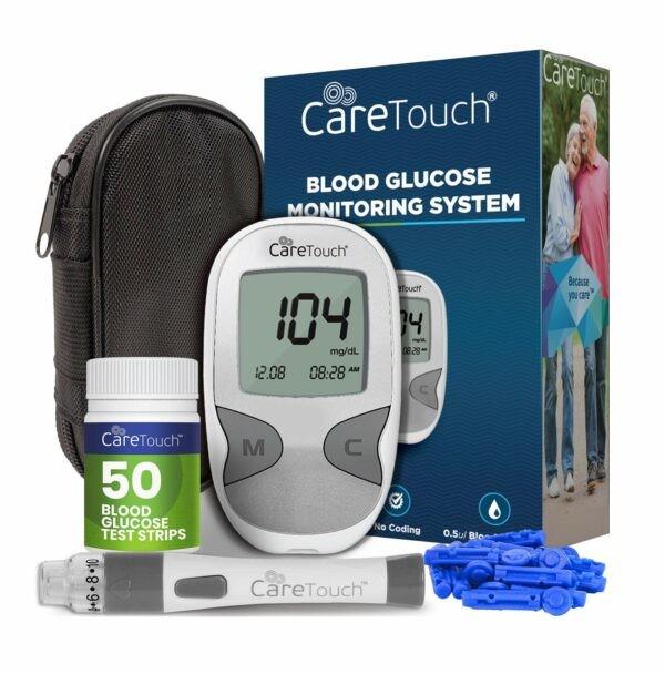 dụng cụ như kim nhỏ, thiết bị giữ kim (gọi là lancet), lưỡi thử (gắn vào máy đo), máy đo đường huyết, bông gòn sạch hay tẩm cồn.