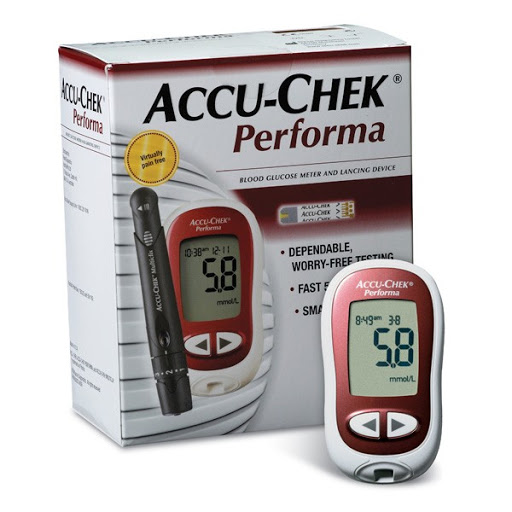 ACCU-CHEK Performa là máy có thể điều chỉnh cả hai đơn vị trong đó mmol/l thể hiện chính