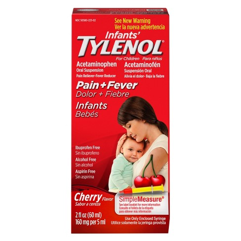 Tylenol là thuốc được chỉ định đầu tay cho các bé bị sốt mọc răng