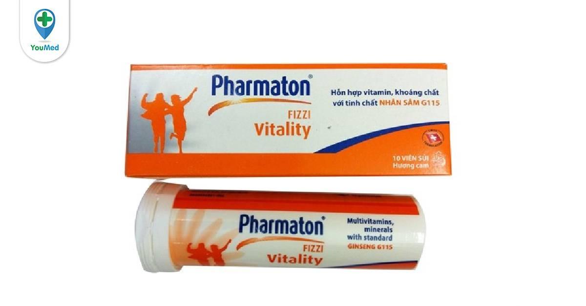 Viên sủi Pharmaton Vitality Fizzi giá, thành phần và cách sử dụng hiệu quả