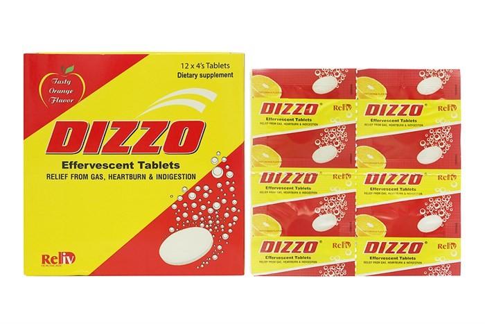 Thông tin về viên sủi uống Dizzo
