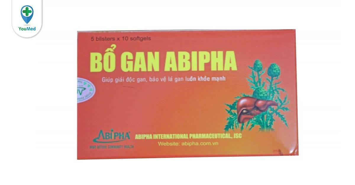 Thuốc bổ gan Abipha có tốt không giá, thành phần và cách sử dụng