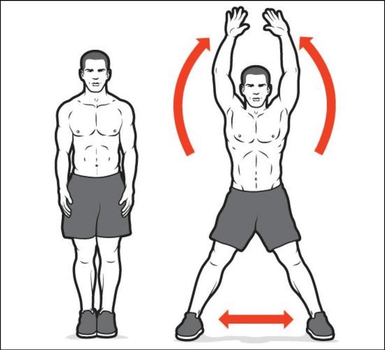 Bài tập cardio-Jumping jack