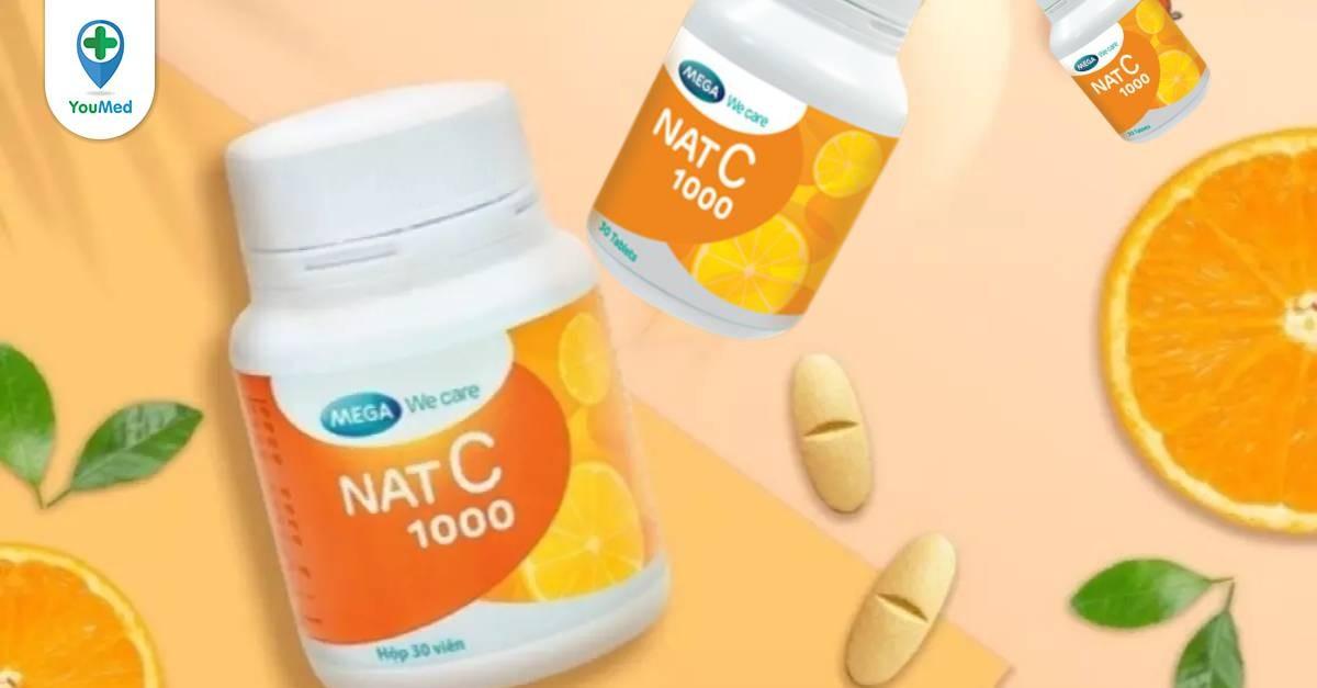 Vitamin C Nat C 1000 có tốt không Giá, thành phần và cách sử dụng